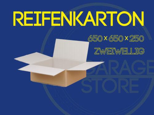 "12 x Räderkarton Reifenkarton 2-wellig  650x650x250 für 15/"" 16 /""17 /""18/"" 19 ZOLL"