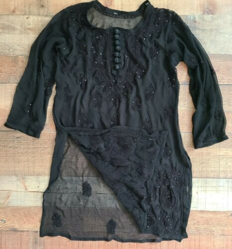 Ladies short sleeve 100/% cotton oversized coverup OSFM Made in USA.