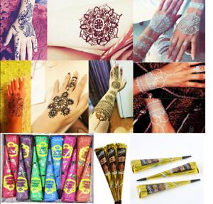Temporary Henna Tattoo Kit Natural Herbal Cones Body Art Paint Mehandi Ink Ebay