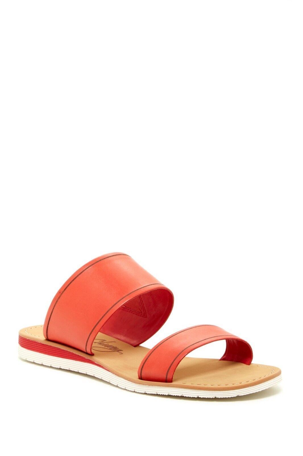 NEW Arturo Chiang Joey Slide Sandal, RED FLAME  VACHETTA, Women Size 9.5  FLAME $69 5d67de