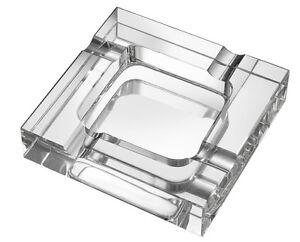 Premium Quality Genuine Crystal Square 4 Cigar Indoor & Outdoor Ashtray
