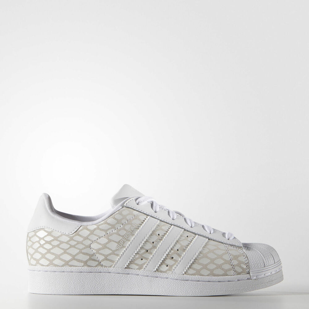 New Femme Adidas Originals Superstar chaussures Color: blanc Taille: 8.5