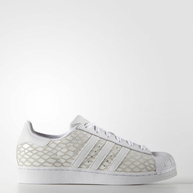 00a69aed08fc Womens adidas Superstar W White S75127 Originals Snakeskin Reptile SNEAKERS