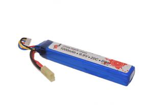 Batterie Rechargeable 9.9 V 1000 mAh LiFePO 4 Vapextech 20 C Airsoft LF95118