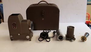 Vintage-Bell-amp-Howell-Filmo-Duo-Master-Slide-Projector-w-Hard-Case-Untested