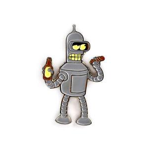 Bender-Pin-Futurama-Enamel-Pendant-Lapel-Hat-Pin