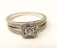 Mauboussin 18K White Gold Diamond Engagement Ring Sz 6 .28tcw Chance Love Paris