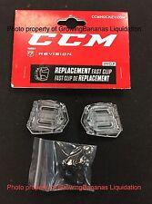 CCM Fast Clip Revision Visor Attachment Hardware Kit! Shield Hockey Helmet