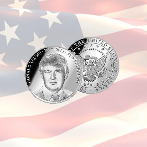 Donald Trump Commemorative Coin | 45TH PRESIDENT | USA | MINT | SILVER | LIMITED
