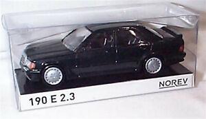 Mercedes-190-e-2-3-1984-Negro-en-escala-1-43-NUEVO-EN-CAJA-NOREV