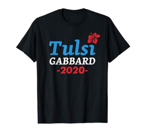 Tulsi Gabbard 2020 For President Black T-Shirt S-3XL