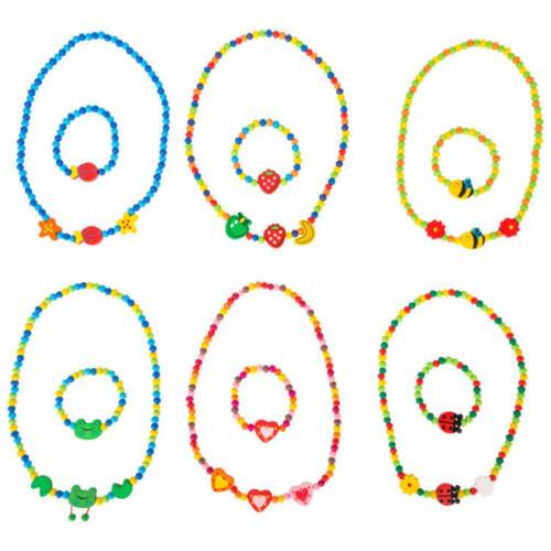 gioco per bambine Set gioielli collana e bracciale Motivi colorati