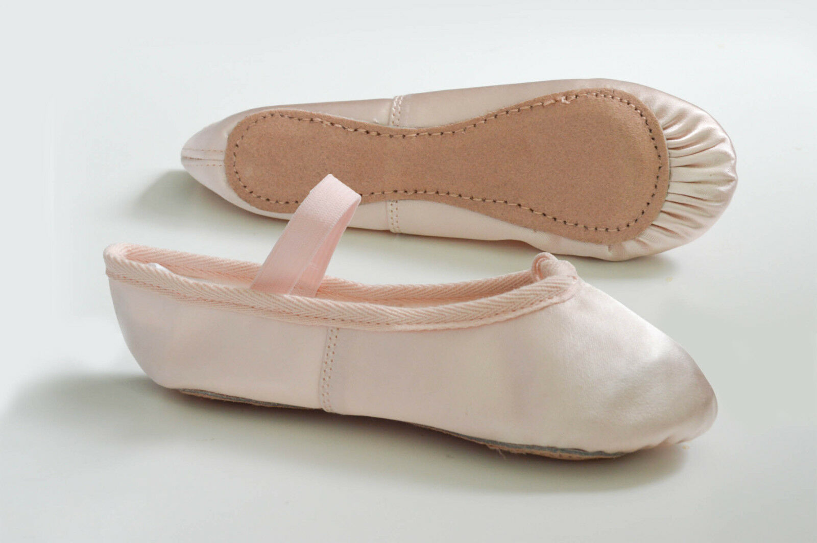 PINK SATIN BALLET SHOES with PRE-SEWN ELASTIC. Infants Size 5 ~ Adults 8