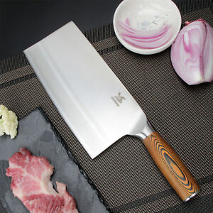 Details About Bigsunny 8 Chinese Kitchen Knife Meat Cleaver Vegetable Knife Pakka Wood Handle