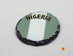 Nigera-Flag-Round-Slate-Coaster-with-Natural-Edge
