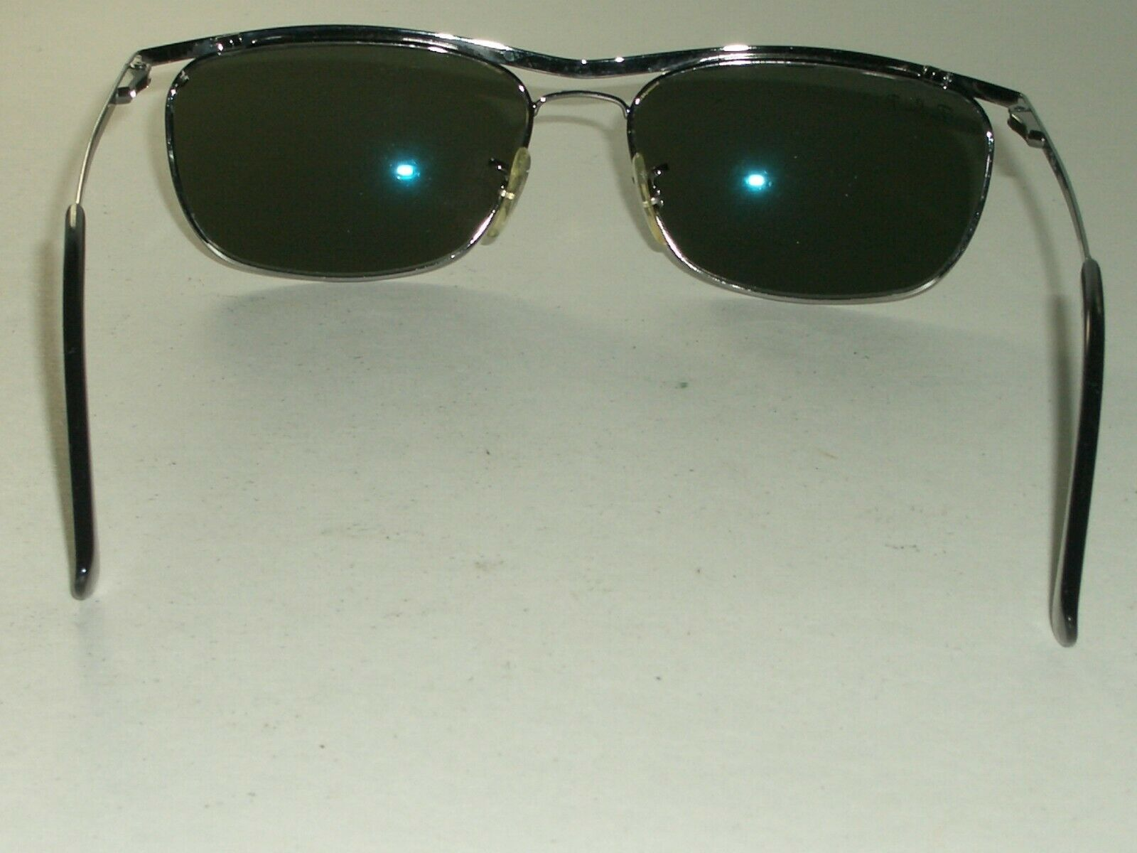 3e1b6dc2d697 Ray Ban RB3385 002 Shiny Black Olympian II Deluxe G15 UV Rectangular  Sunglasses for sale online | eBay