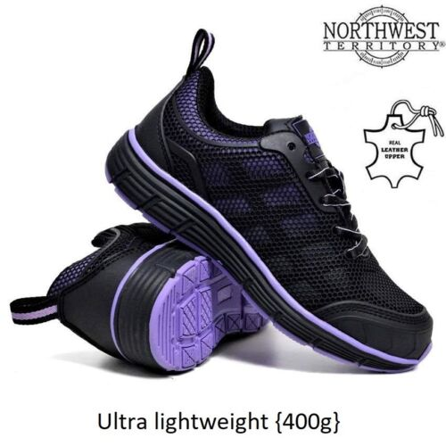 NORTHWEST WOMENS LIGHTWEIGHT STEEL TOE CAP WORK SAFETY LADIES TRAINERS BOOTS SZ