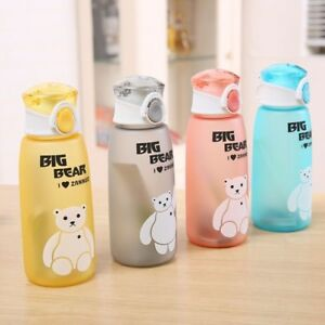 Portable Bear Water Bottles Leakproof Outdoor Travel Sport Tea Juice Water Cup