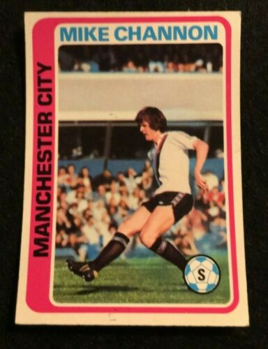 TOPPS 1979 FOOTBALL CARD #130  MANCHESTER CITY MIKE CHANNON