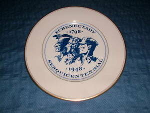 VINTAGE 1798-1948 SCHENECTADY NY SESQUICENTENNIAL PLATE