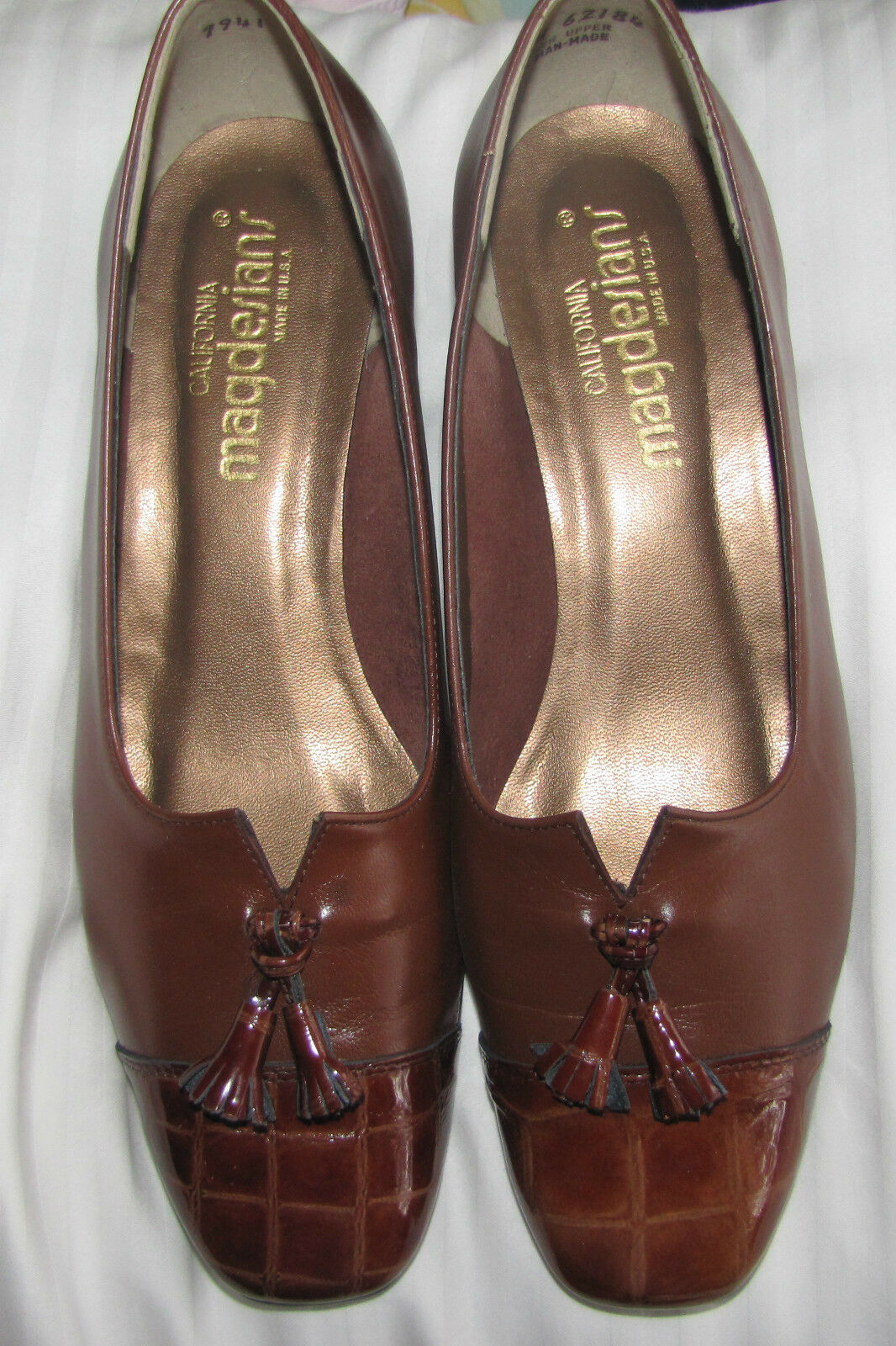 NEW California MAGDESIGNS Tan Renee Nappa Shoes SIze 8.5 W