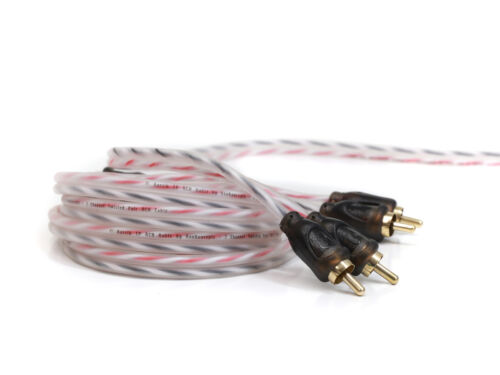 KnuKonceptz Bassik Twisted Pair 2 Channel OFC RCA Cable 5 Meter Interconnect 17/'