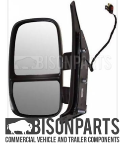 FITS IVECO DAILY 2011-2014 SHORT ARM MANUAL MIRROR HEAD PASSENGER SIDE LH IVE638