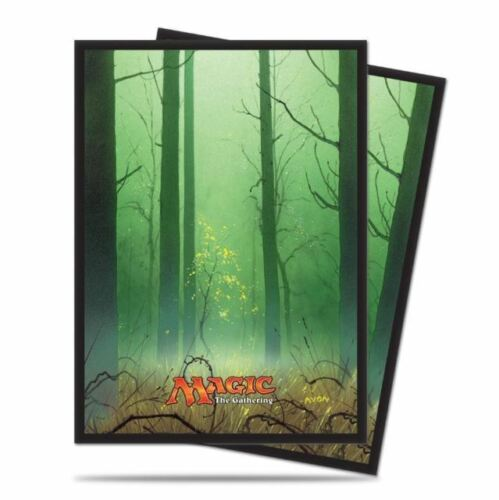 UNHINGED GREEN MANA FOREST SERIES 5 ULTRA PRO MTG 80ct Deck Protectors Sleeves