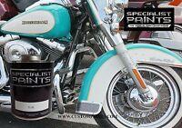 1 Pint Kit Of Harley Davidson Teal. Motorcycle, Automotive, Hot Rod, Guitar