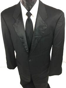 d44ccd4c Details about Armani Collezioni Men BLACK Tuxedo Sport Coat FORMAL Tux  Jacket PROM Blazer 40 S