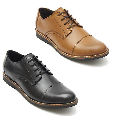 Besorgt Lucini Mens Real Leather Smart Soft Oxford Shoes
