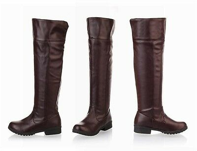 Attack on titan knee length boots high single knight women men cosplay shoes
