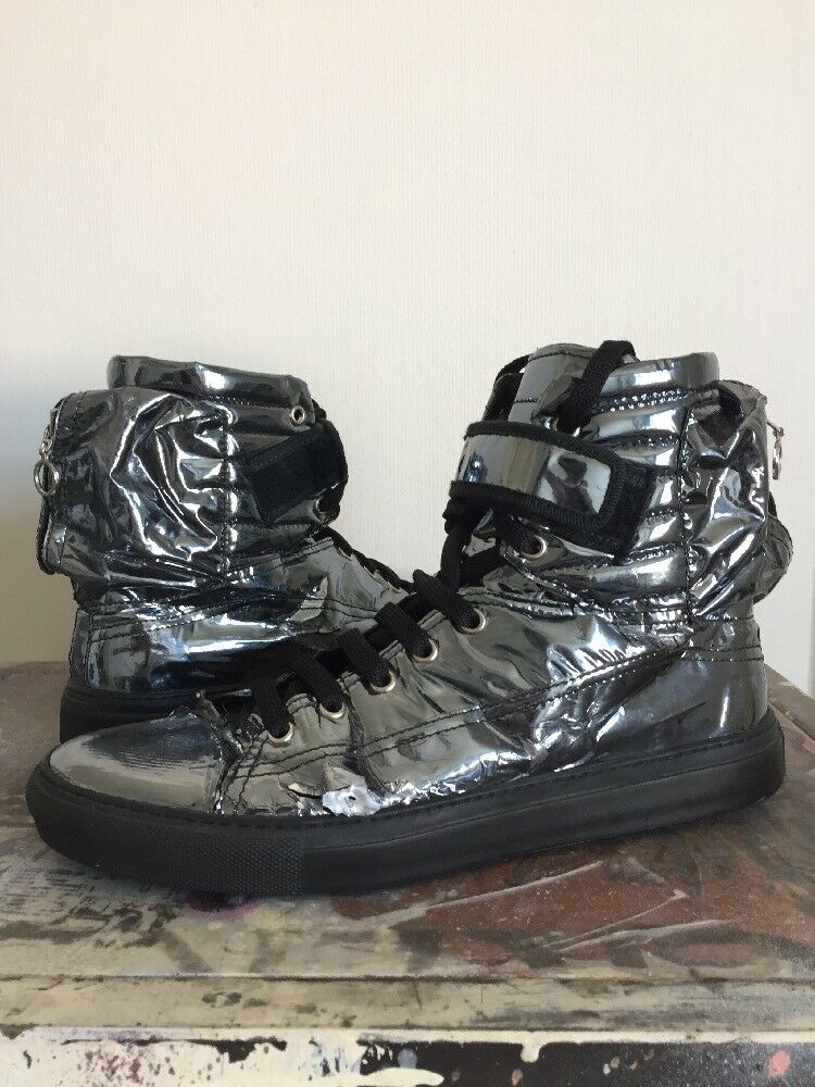 Raf Simons Foil Astronaut High Top Sneaker-Boots Size 8 RARE