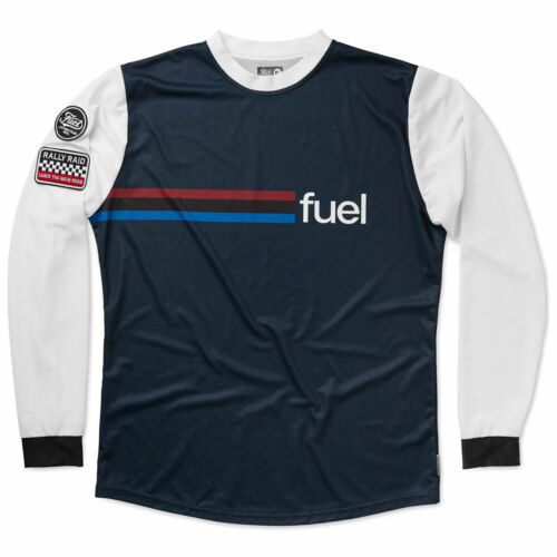 Fuel Rally Raid Moto Motorcycle Bike Off Road Jersey Blue
