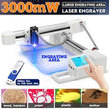 3000mw Usb 3d Laser Engraving Cutting Machine Engraver Cnc Diy Logo Mark Printer