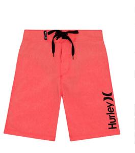 Hurley swimsuit boys youth board shorts swim trunks green plaid 8 10 12 14 16 18