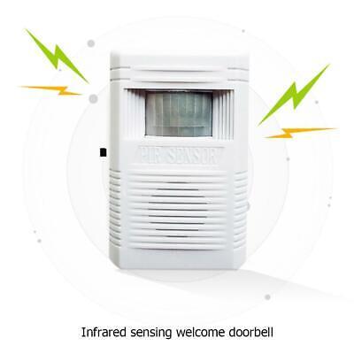 WIRELESS SHOP VISITOR PIR SENSOR DOOR BELL CHIME ALERTALARM WELCOME DOORBELL UK