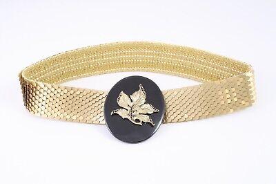 Qualità Al 100% Dg152 Capannone Cintura In Vita Cintura Metallo Oro Elastici 70 - 90 Cm Vintage-mostra Il Titolo Originale