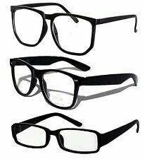 Nerd Brille dicker rund Oversize Glasses Klarglas Hornbrille Streber retro 613