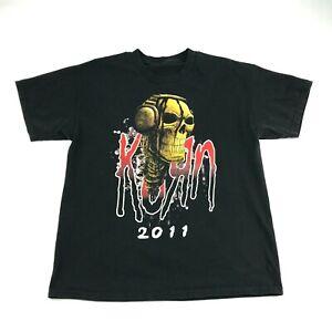Korn-2011-Mens-Black-Pain-In-The-Grass-Concert-Tour-T-Shirt-M