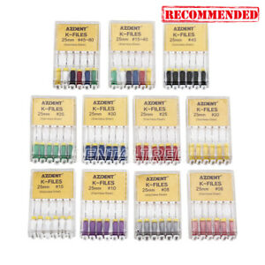 6pcs-Kit-AZDENT-Dental-Endodontic-Hand-Use-K-Files-Stainless-Steel-21mm-25mm