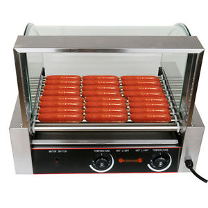 commercial roller dog 24 hot dog 9 roller grill cooker machine 8rows of 3 batch ebay. Black Bedroom Furniture Sets. Home Design Ideas