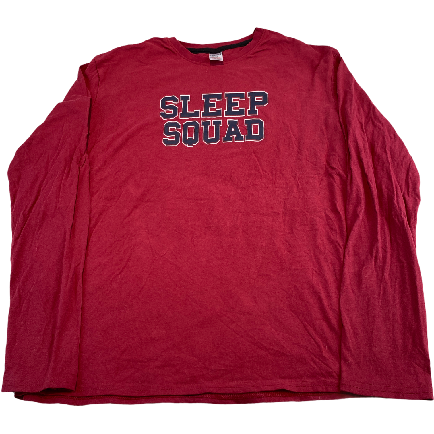 AVENUE Mens Sweatshirt Medium Red Sleep Squad Graphic Pullover