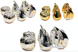Ceramic Fruit Silver Gold Centre Piece Set of 6 Shabby Chic Art Deco - southall, Middlesex, United Kingdom - RETURNS ARE ACCEPTED PROVIDED ITEMS ARE UNUSED AND UNOPENED. WE HAVE TO BE NOTIFIED WITHIN 48 HOURS AFTER RECEIVING THE DELIVERY. RETURN ACCEPTED WITHIN 14 DAYS. Most purchases from business sellers are protected by t - southall, Middlesex, United Kingdom