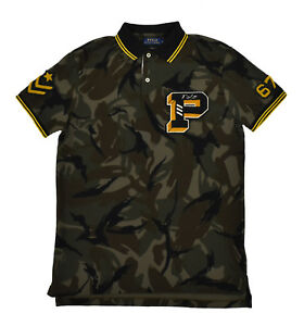 b90b917bb Ralph Lauren Polo Limited Edition P Wing Varsity Camo Military Army ...