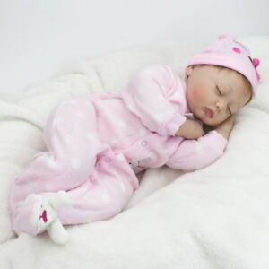 "Handmade Reborn Baby Dolls 22"" Newborn Girl Soft Silicone Doll Christmas Gift UK"