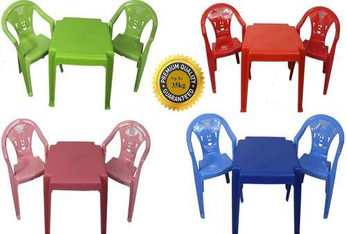 Lot de Enfants Table et fauteuils en résine Nursery ensembles Indoor Outdoor Play
