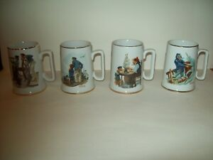 Image Is Loading Set Of 4 1985 Norman Rockwell Nautical Themed