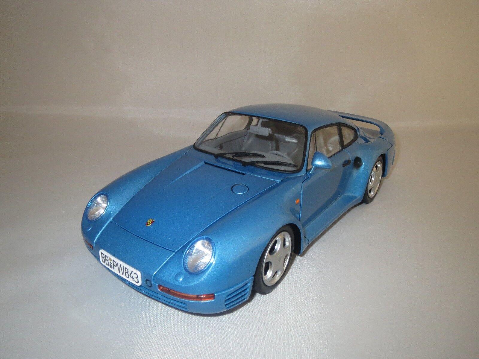 Motorbox Exoto Porsche 959 (bleu-Met.) 1 18 sans emballage