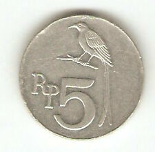 Offer>old Indonesia 5 rupees Coin big bird  very nice!